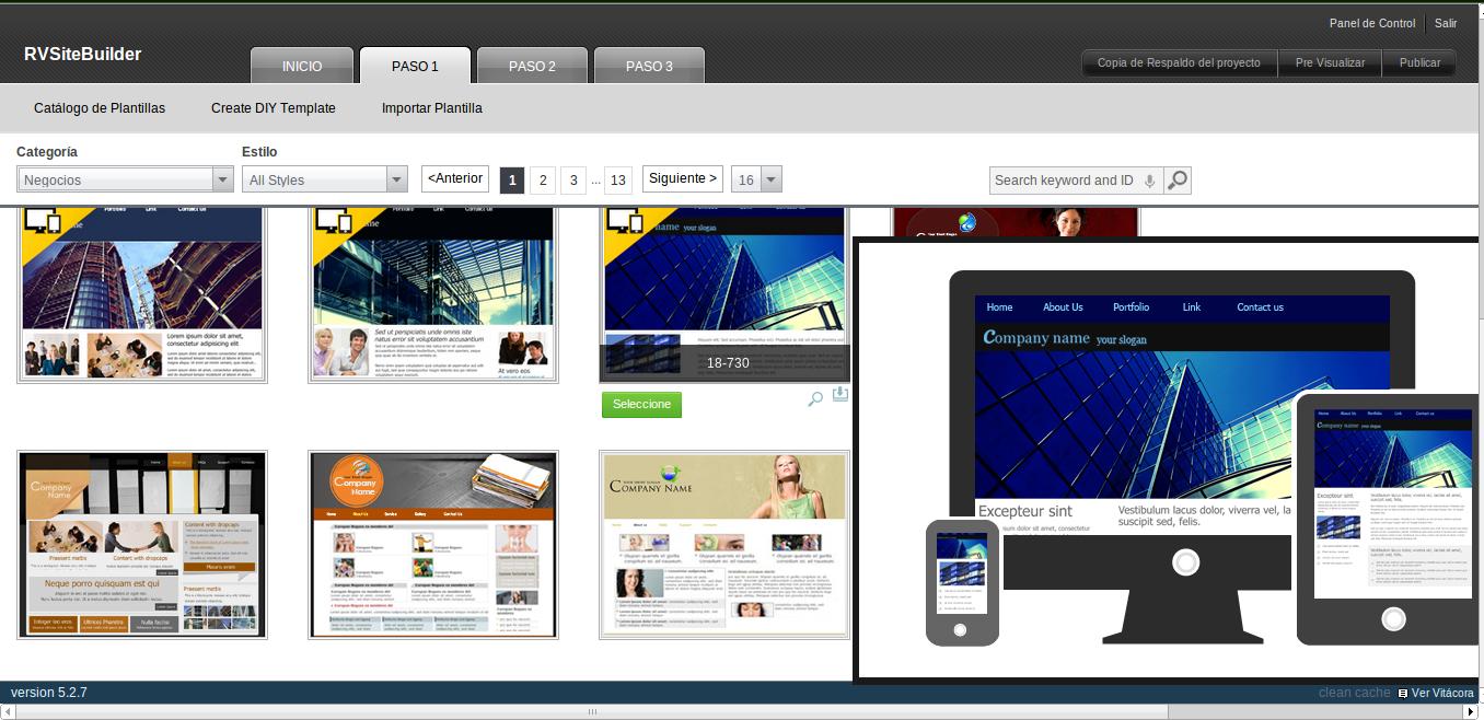 Cómo hacer un sitio web con RV Site Builder